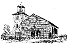 Pen tekening Kerkgebouw